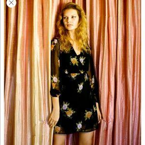 BNWOT Urban Outfitters Bleecker wrap dress, size S